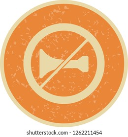 Vector Audible warning devices prohibited Icon Sign Icon Vector Illustration For Personal And Commercial Use...