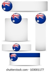Vector - Australia Country Set of Banners