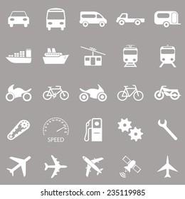 Vector auto icons set