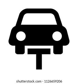 vector auto repair lift illustration. Car repair and service concept. auto lifting equipment