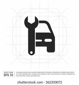 Vector auto workshop icon