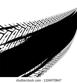 Vector automotive backdrop template. Grunge tire tracks backgrounds for poster, digital banner, flyer, booklet, brochure and web design. Editable graphic image in black and white colors