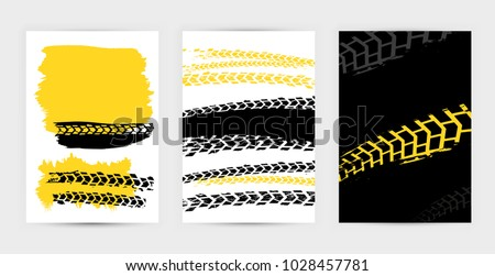 vector automotive posters template grunge tire stock vector royalty