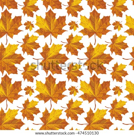 vector autumn leaves carpet abstract seamless stock vector royalty