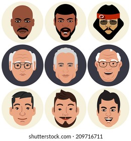 Vector Avatars - Male Faces