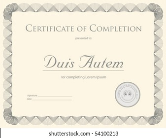 (vector) Award Certificate Template (a jpg is also available)