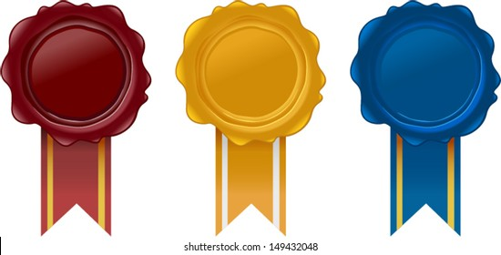 vector award wax seals - Separate layers for easy editing