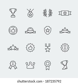 Vector awards mini icons set