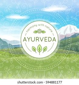 Ayurveda Banner Images Stock Photos Vectors Shutterstock