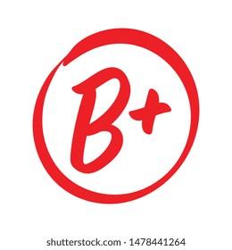 Vector B Plus Red Grade Mark