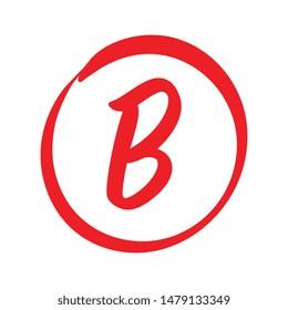 Vector B Red Grade Mark
