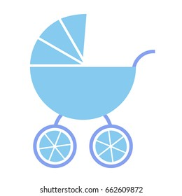 Vector baby blue carriage
