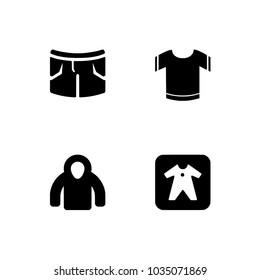 ad9713c53d04 Clothes Icons Tshirt Bermuda Shorts Signs Stock Vector (Royalty Free ...