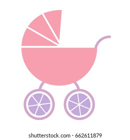 Vector baby pink carriage