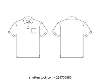 Vector back and front polo shirt for creative and design.