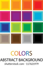vector backdrop design with squares in spectrum colors and place for your text isolated on white background