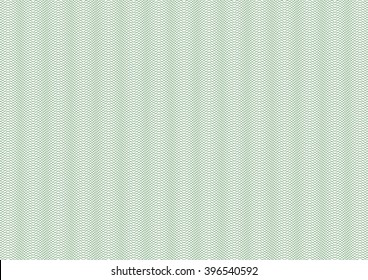 Vector backgroud - guilloche texture - green pattern. For certificate, voucher, banknote, money design, currency, note, check, ticket, reward etc. Eps 10.
