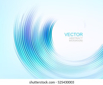 Vector background. Abstract blue swirl, isolated on white.