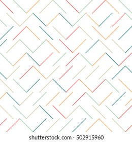 Vector Background Abstract Geometry Seamless Angle Line Pattern