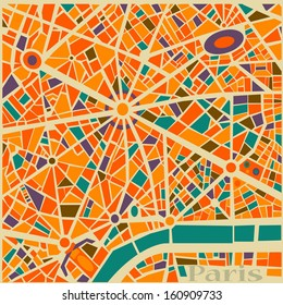 Vector Background Abstract Paris city map Trendy Pattern colors and style