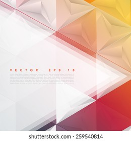 Vector background abstract polygon triangles. polygonal design geometrical
