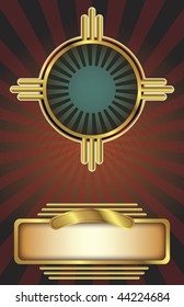 Vector background in an Art Deco style with copy space. Perfect for posters or other printed, promotional materials.
