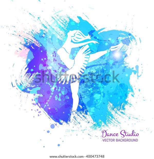 Vector Background Ballerina Dance Perfect Ballet Stock Vector Royalty Free 400473748