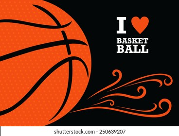 Vector background basketball theme. The stylized image of a basketball ball