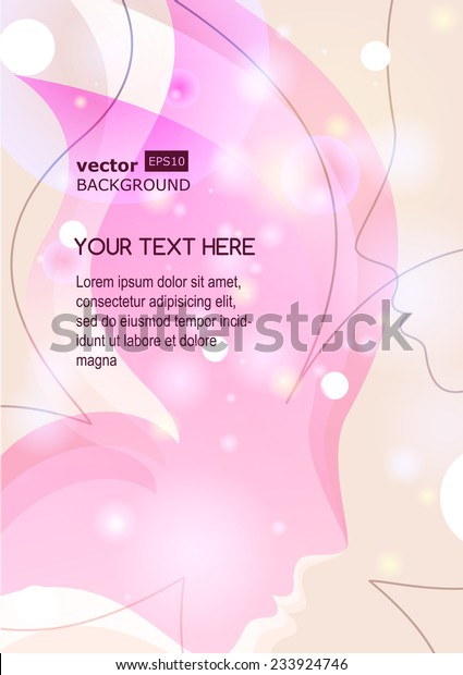 Vector Background Beautiful Girl Silhouette Womans Stock Vector Royalty Free 233924746