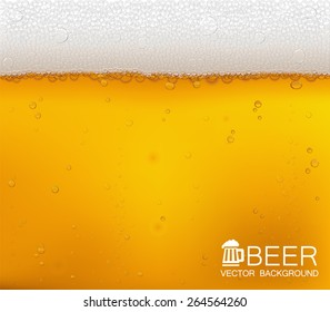 Vector background. Beer in the high magnification(close-up). EPS10.