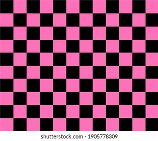 Vector background with black and pink squares