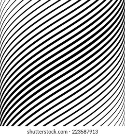 Vector Background with Black and White Stripes .