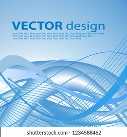Vector background in blue with space for your text