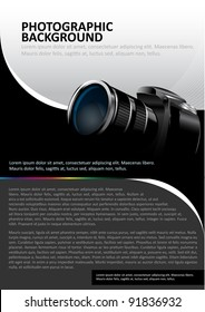 Vector background with the camera and place for text