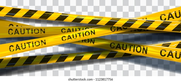 Vector background of caution yellow warning lines.