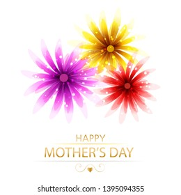 Vector background to celebrate mother's day with flowers