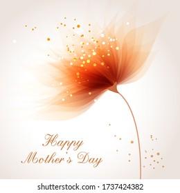 Vector Hintergrund zum Feiern des Muttertags mit Blume