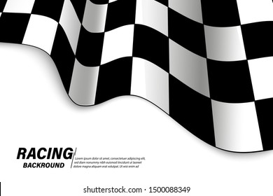 Vector background checkered flag Formula one with space for your text