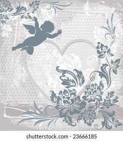 vector background with cherub