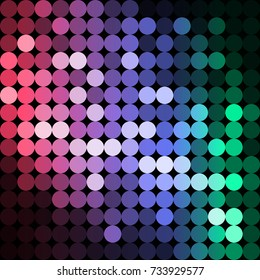 vector background from circles, abstract background, wallpaper