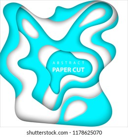 Vector background with color of argentina flag paper cut shapes. 3D abstract paper art style, design layout for business presentations, flyers, posters, prints, decoration, cards, brochure cover.