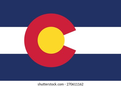 vector background of colorado state flag america