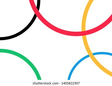 vector background of colored rounds, template design with colorful olympic circles concept. Vector illustration isolated or white background
