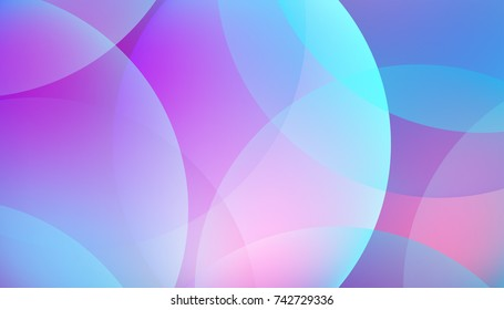Vector background with colorful gradient circles