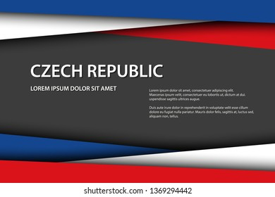 Vector background with Czech colors and free grey space for your text, Czech flag, Made in Czech Republic, Czech icon and symbol