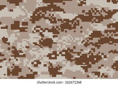 vector background of desert digital camoflage pattern