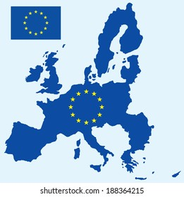 vector background of european map