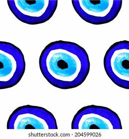 Vector background of evil eye. Turkish amulet