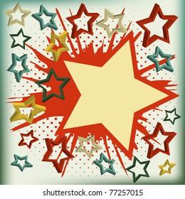 Vector background of explosion star. Vector illustration.