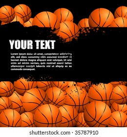 Vector background filled with balls. There is a place for your text.